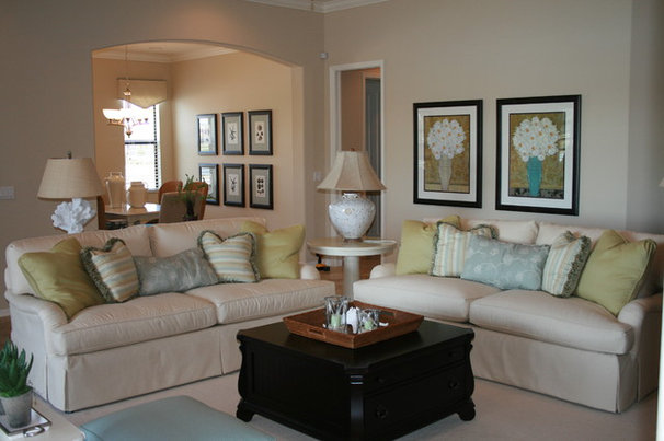 Beach Style Living Room by Dwellings