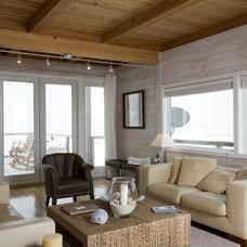 Beach Style Living Room by Habitat Post & Beam, Inc.