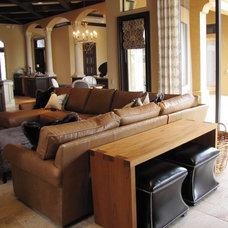 Mediterranean Living Room by Jessica Stewart of Ethan Allen Orlando