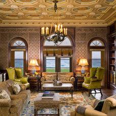 Mediterranean Living Room by Frank de Biasi Interiors