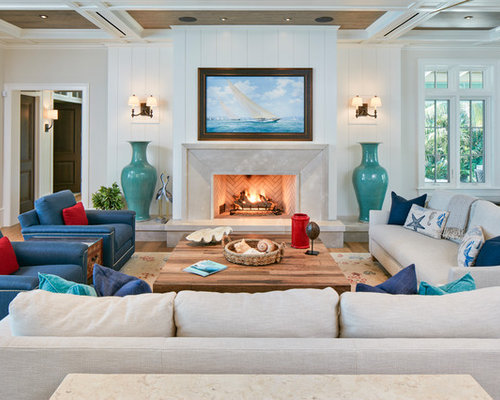 24 569 beach style living room design ideas remodel pictures houzz - Beach style living room ...