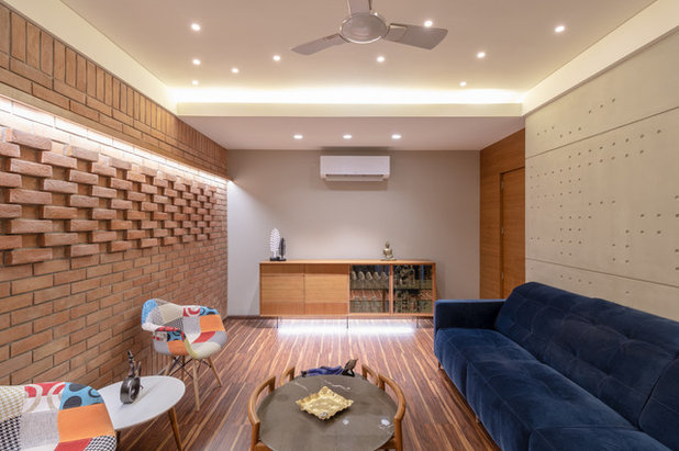 Indian Family Room by SPACE 9 ARCHITECTS