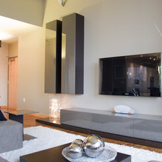 Contemporary Living Room by Dwelling Designs