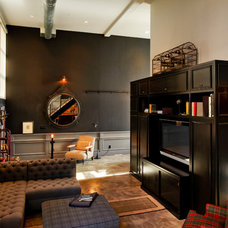 Industrial Living Room by Central Meridian Photography