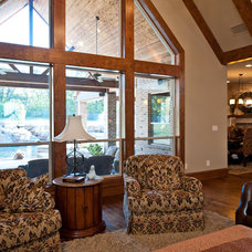 Traditional Living Room by Drew Walling Custom Homes
