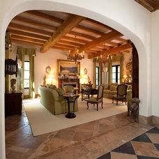Mediterranean Living Room by Solaris Inc.