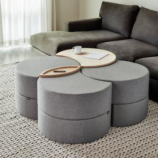 Minimalist living room photo in Seattle