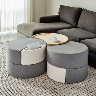 Inspiration for a modern living room remodel in Seattle