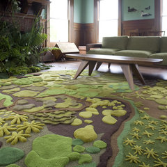 modern living room Forest Floor