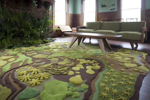 Eclectic Living Room Forest Floor