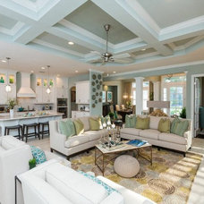 Transitional Living Room by Dostie Homes