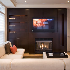 Transitional Living Room by FORMA Design