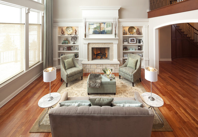 Traditional Living Room by KannCept Design, Inc.