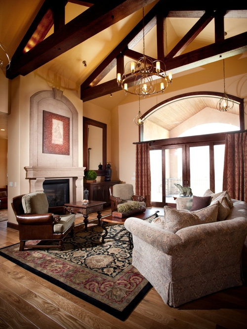 Cathedral ceiling with exposed beams ideas pictures for Vaulted ceiling exposed beams