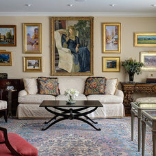 Traditional Living Room by Fredman Design Group