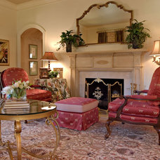 Traditional Living Room by Leslie Williams Interior Design