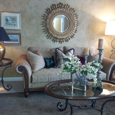 Traditional Living Room by Maria Pifke for Ethan Allen Inc. Schaumburg
