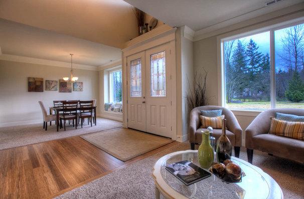Contemporary Living Room by Signature Custom Homes