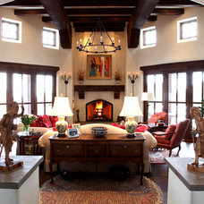 Traditional Living Room by Tewes Design