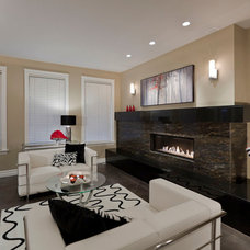 Contemporary Living Room by My House Design Build Team