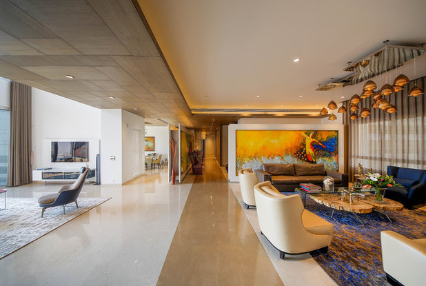 Contemporary Living Room by TAO Architecture Pvt. Ltd.