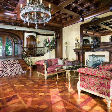 Formal Parlor with Parquet Flooring