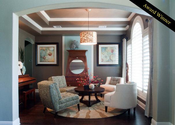 Contemporary Living Room by True Interiors, LLC