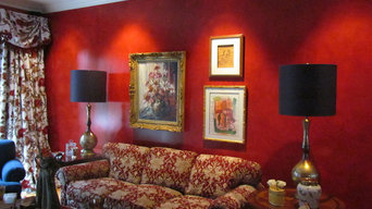 Formal Red Living Room