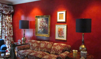 Formal Red Living Room