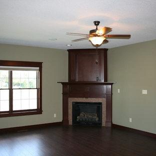Formal room Custom fireplace