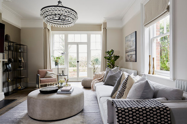 Transitional Living Room by Cherie Lee Interiors