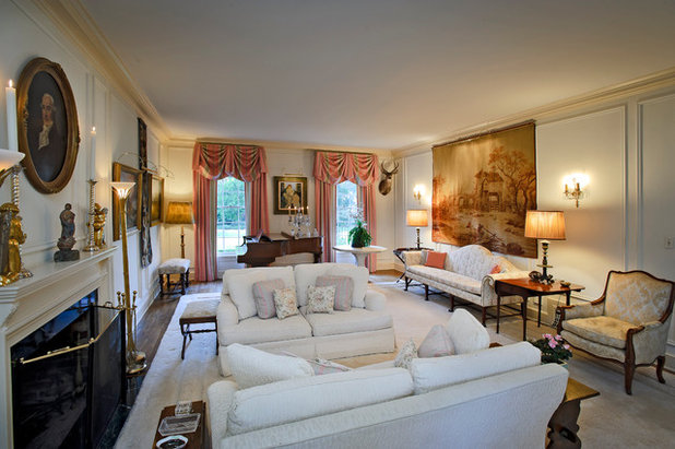 Traditional Living Room by Dennis Mayer - Photographer