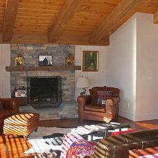 Rustic Living Room by Cotton Design Associates