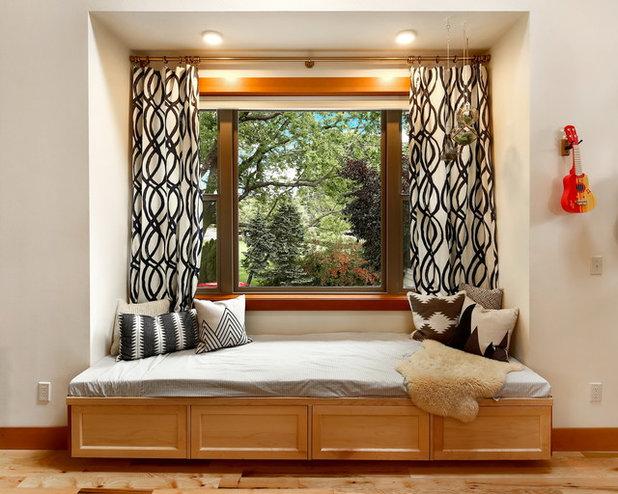 Craftsman Living Room by Bellingham Bay Builders
