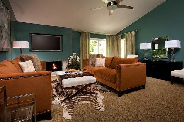 Contemporary Living Room by Genchi Interior Design Group