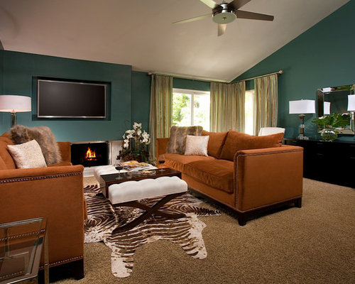 Teal And Rust Home Design Ideas Pictures Remodel And Decor