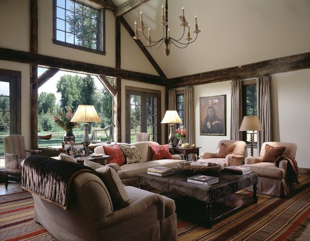 Rustic Living Room by OSM Wyoming, Inc.