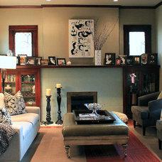 Contemporary Living Room by Lauren Mikus