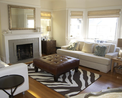 Great Inspiration For A Contemporary Living Room Remodel In San Francisco With A  Tile Fireplace Part 14
