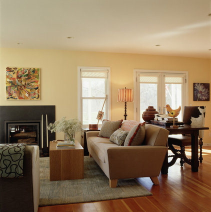 Eclectic Living Room by Lucy Interior Design