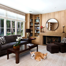 Transitional Living Room by SDG Architecture, Inc.