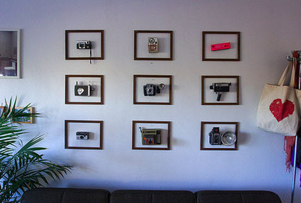 living room framed photos