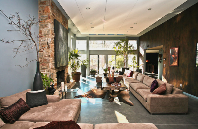 Eclectic Living Room by Jeanine Turner