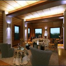 Modern Living Room by Diane Plesset, CMKBD, NCIDQ, C.A.P.S.