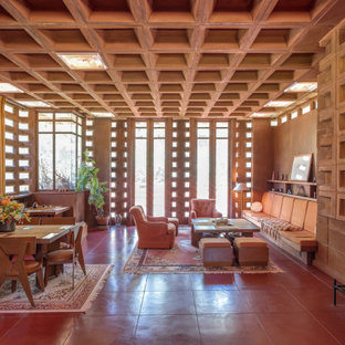 75 Beautiful Midcentury Modern Living Room Pictures & Ideas ...