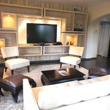 Contemporary Living Room by J&C Cabinets
