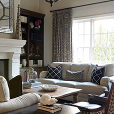 Transitional Living Room by Red Leaf Interiors, LLC