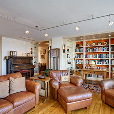 Eclectic Living Room by Kaplan Architects, AIA