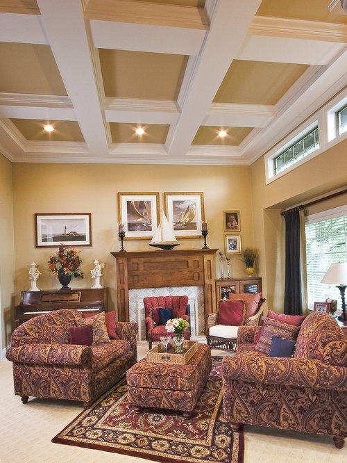 Affordable coiffure and custom tray ceilings living design for Living room coiffeur