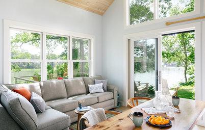 Houzz Tour: Coastal Maine Home Celebrates White, Wood and Windows